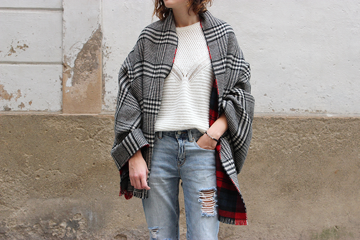look-echarpe-plaid-zara