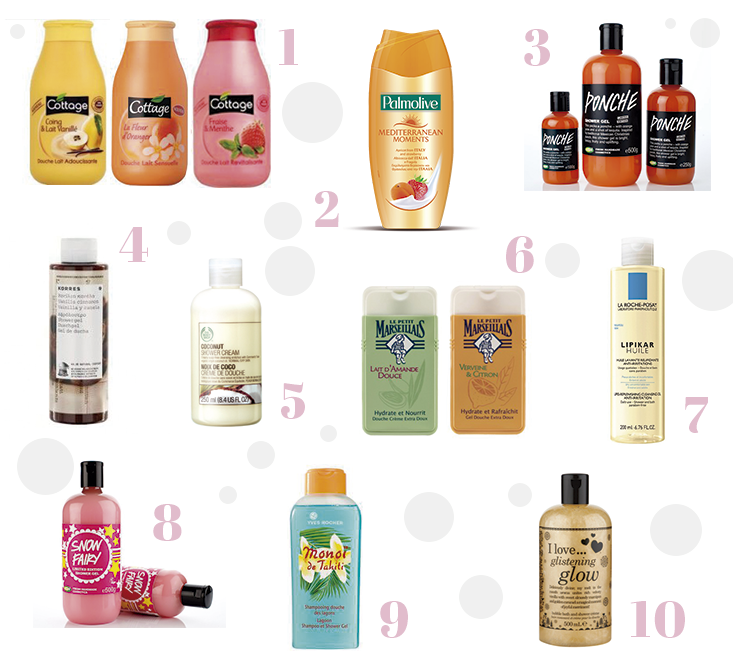 Super Top 10 // Mes gels douche préférés - Mango and Salt EQ16