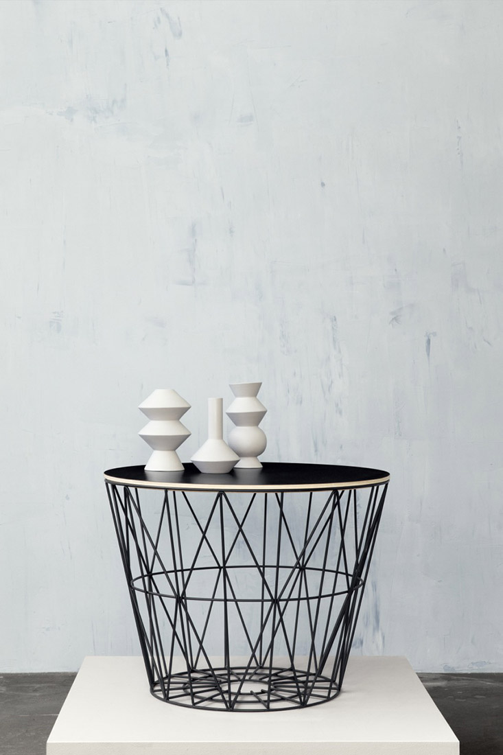 ferm-Living-wire-basket-as-a-table