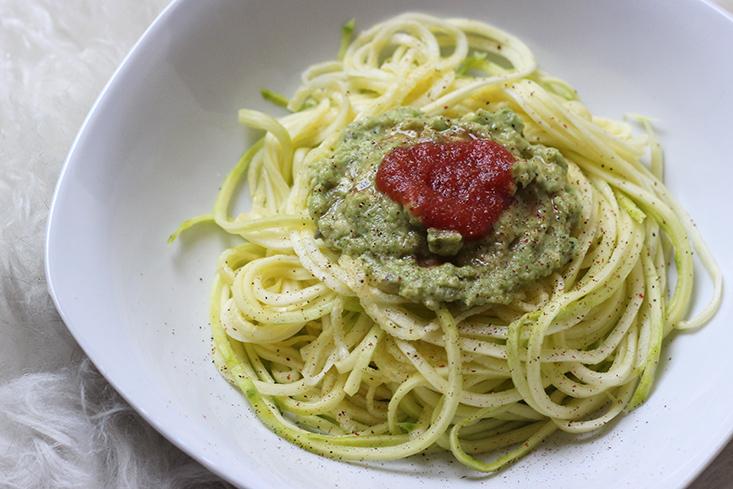 spaghetti-courgette