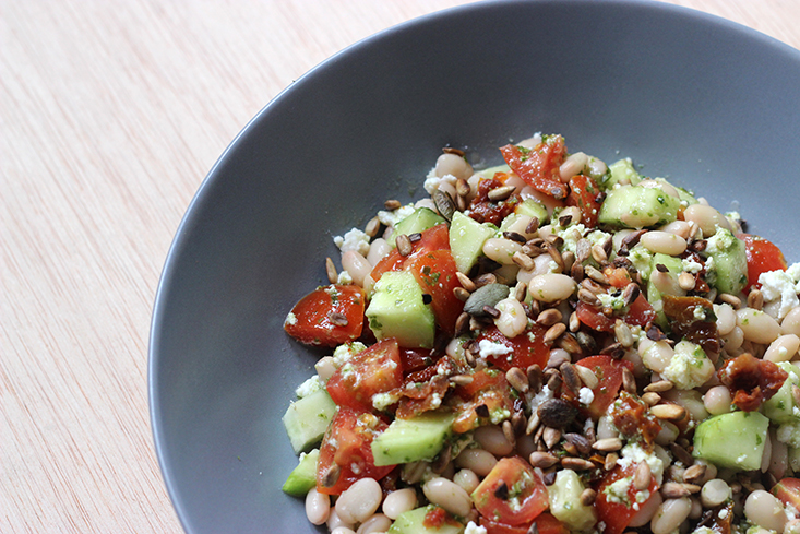 salade-haricots-blancs-pesto