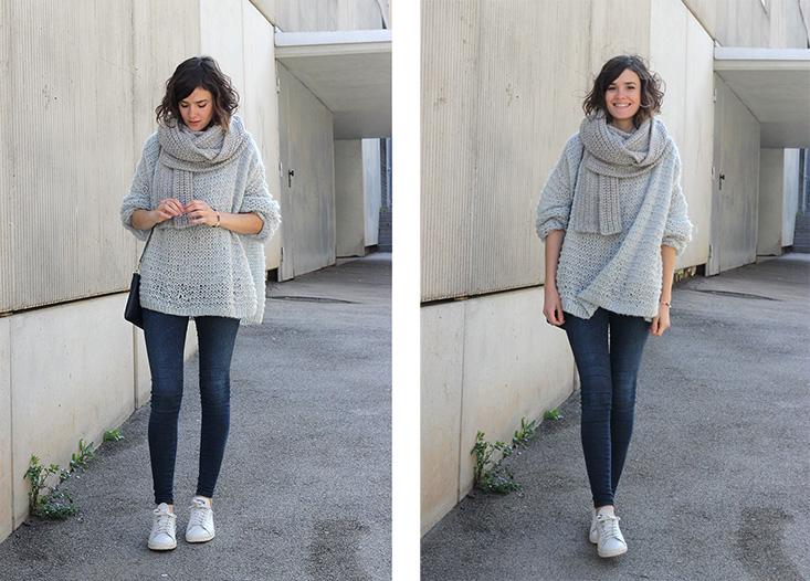 Tricoter un pull oversize femme