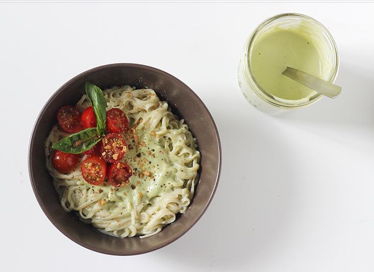 sauce-cajou-basilic-vegan