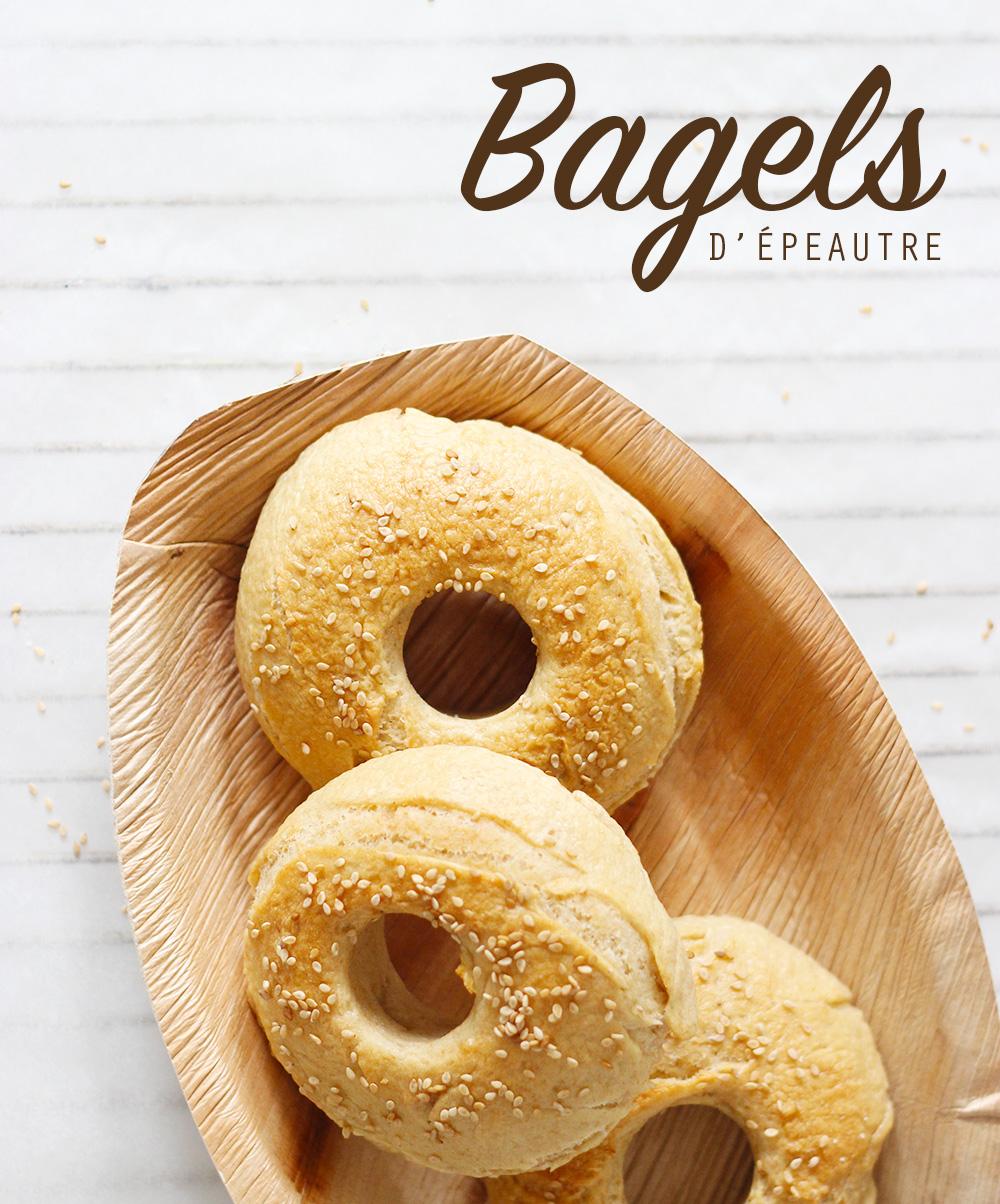 """Bagels d'épeautre et recette """"morning bagel"""" à l'avocat - Mango & Salt"""