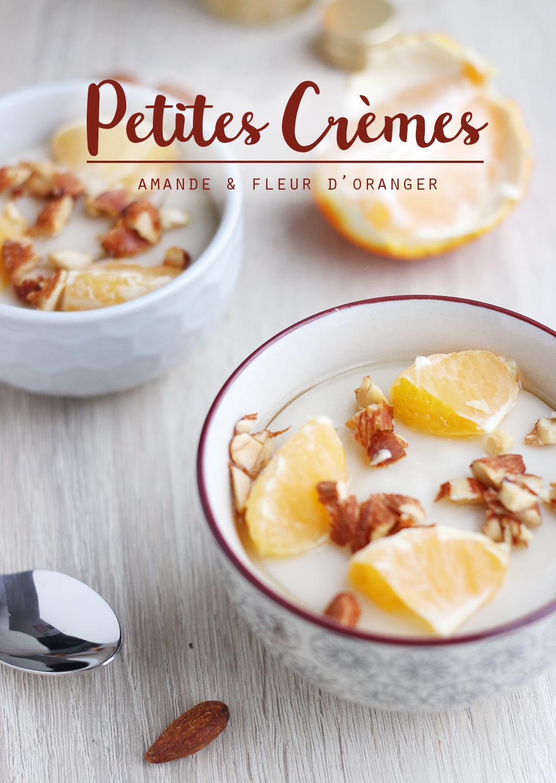 Petites crèmes vegan à l'amande et fleur d'oranger - Mango & Salt