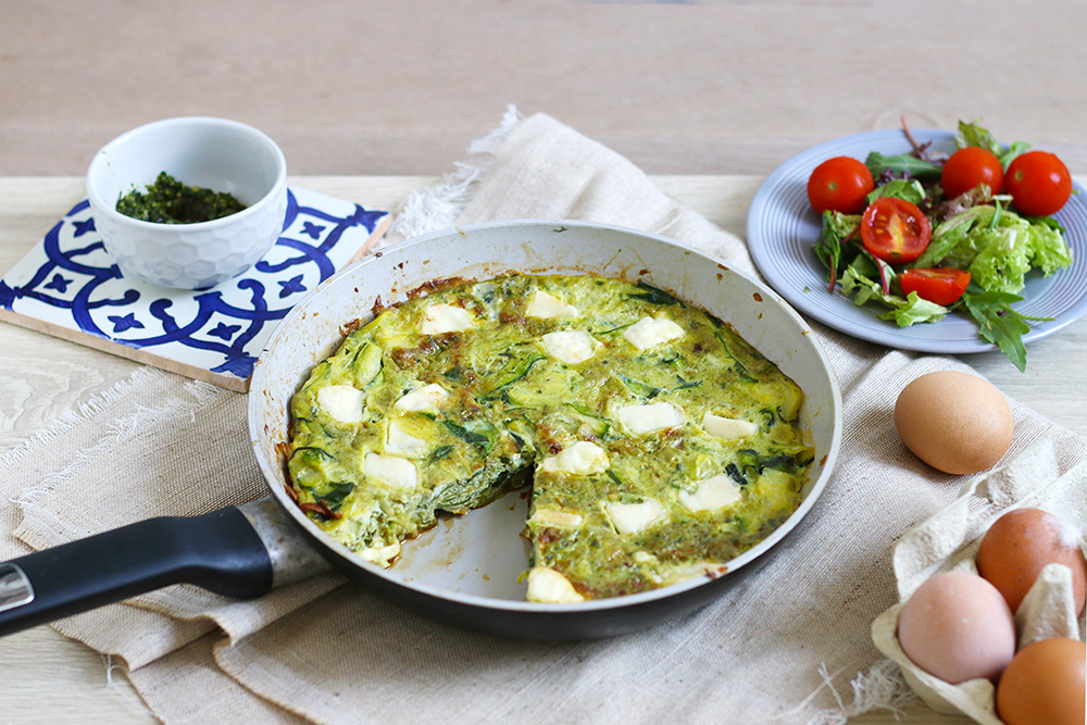 frittata-courgette-pesto