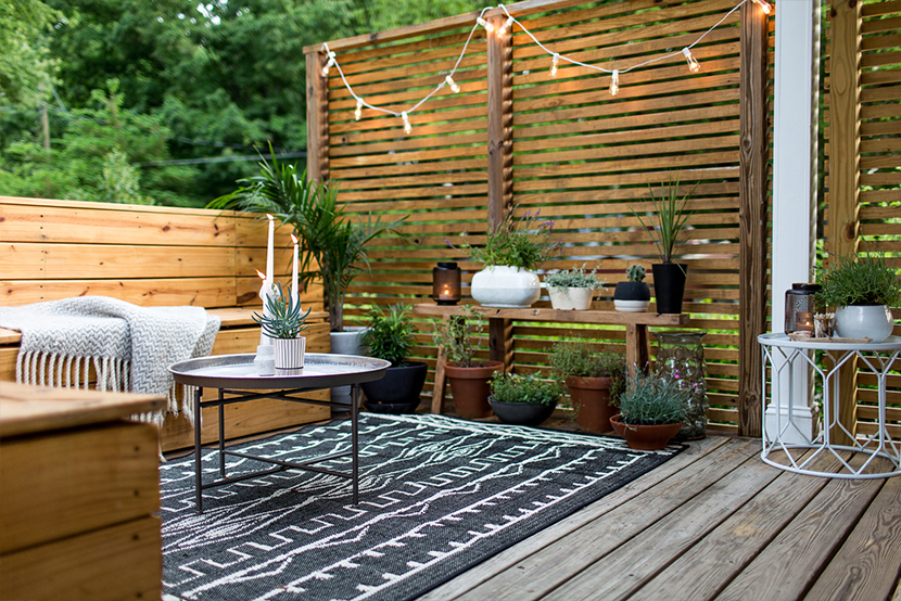 d co une terrasse cosy et boh me mango and salt. Black Bedroom Furniture Sets. Home Design Ideas