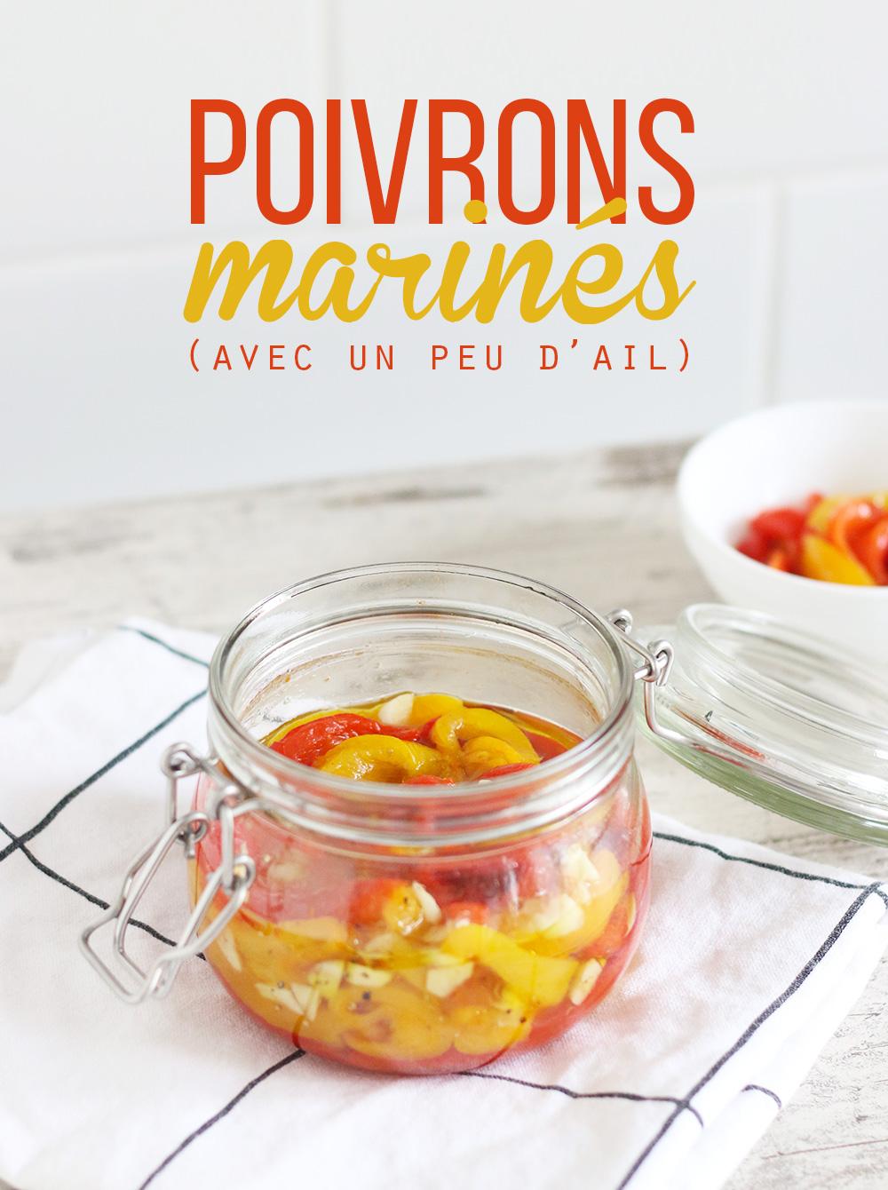 Poivrons marinés à l'huile d'olive – Mango & Salt