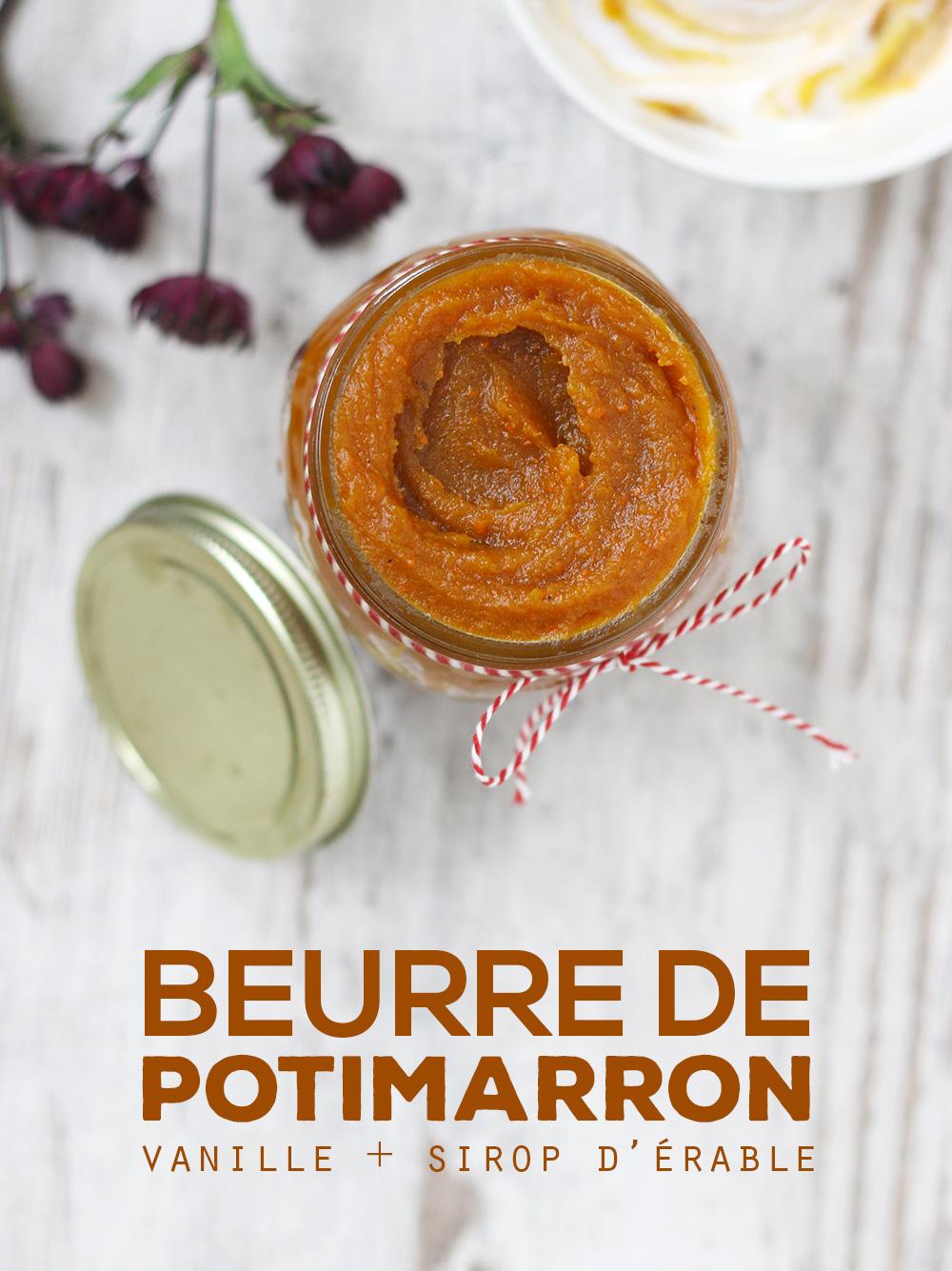 Beurre de potimarron à la vanille & sirop d'érable - Mango & Salt