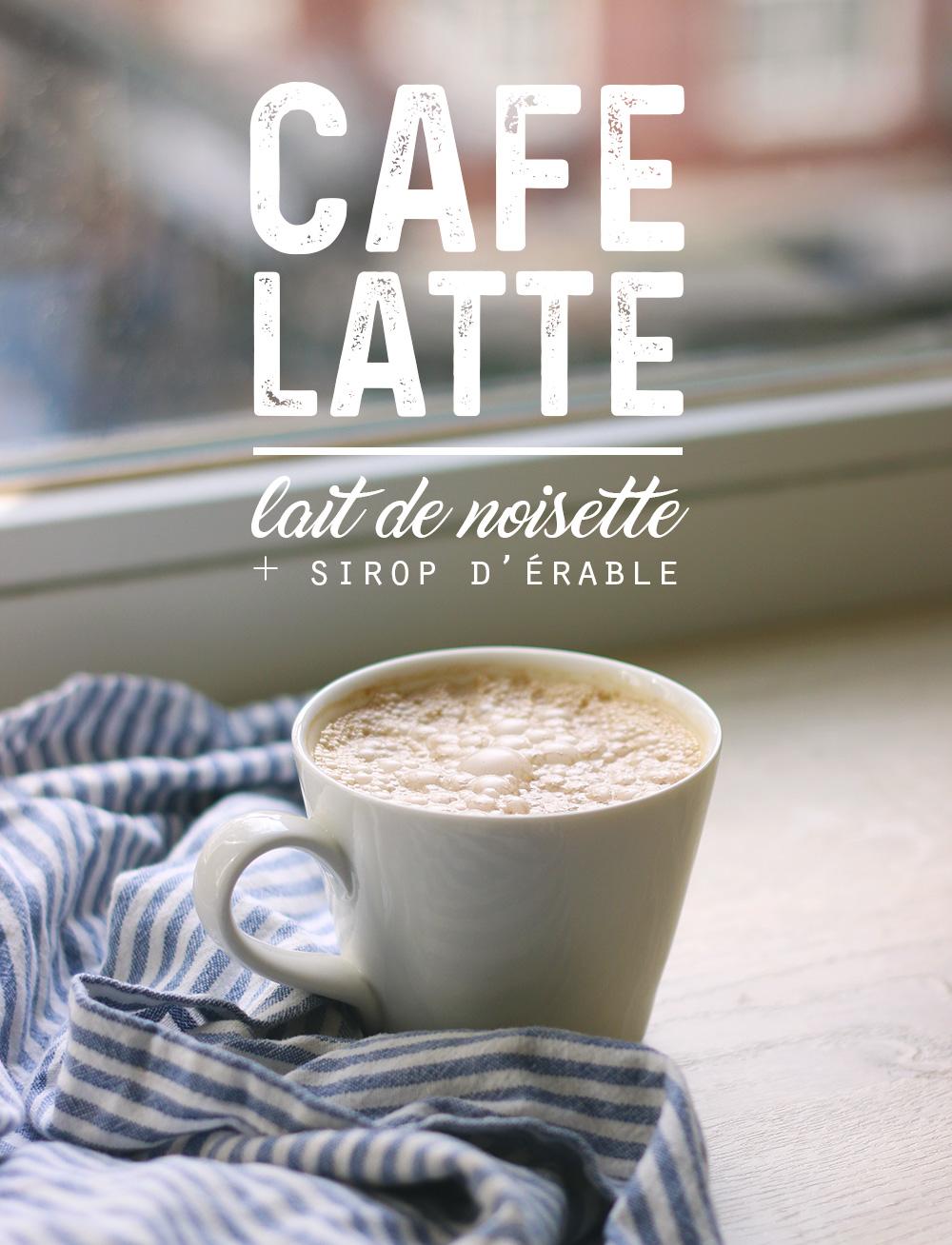 Latte gourmand au lait de noisette & sirop d'érable - Mango & Salt