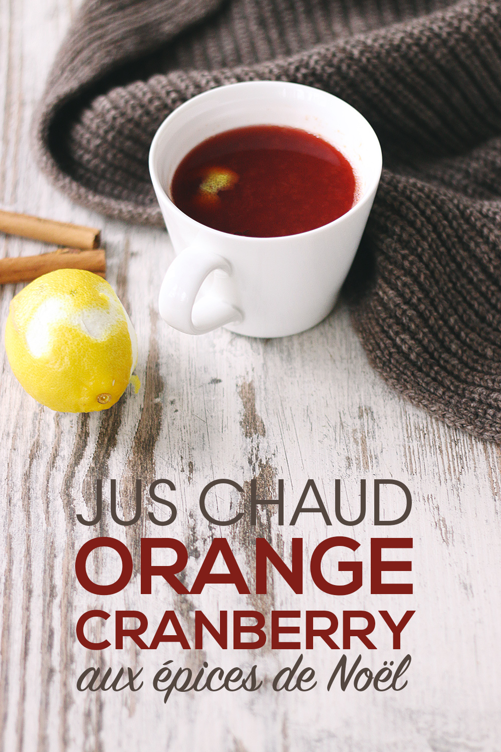 Jus chaud orange & cranberry aux épices de Noël - Mango & Salt