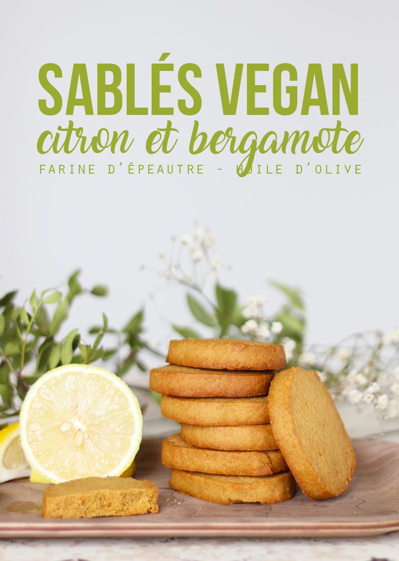 Sablés vegan citron & bergamote - Mango & Salt