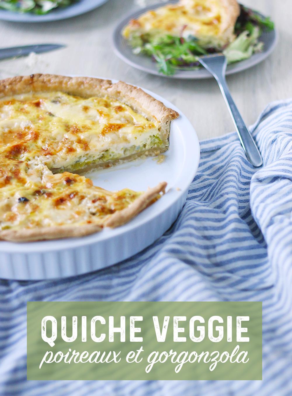 Quiche végétarienne poireaux et gorgonzola - Mango & Salt