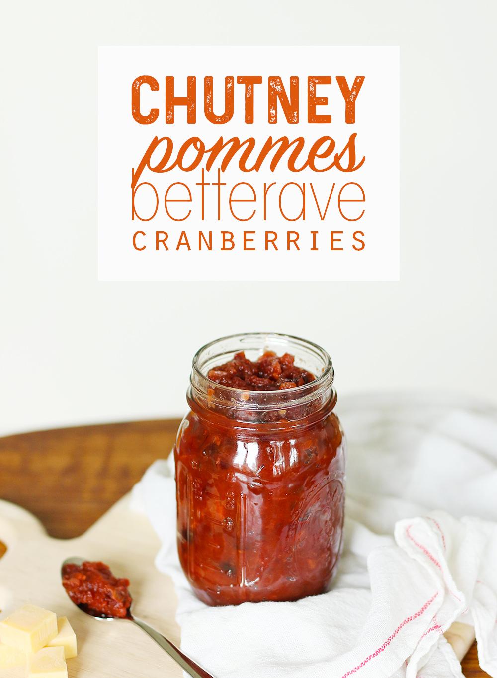 Chutney épicé aux pommes, betterave et cranberries - Mango & Salt