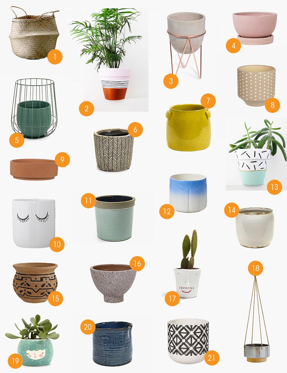 Pot De Fleur Haut Pas Cher shopping // un joli cache-pot pour mes plantes - mango and salt