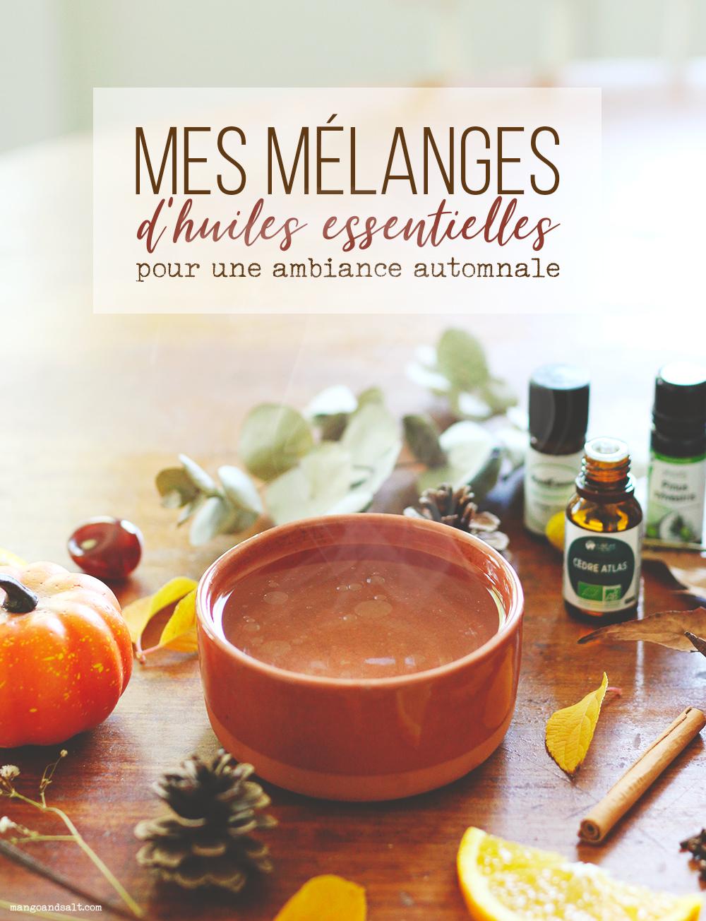 5 mélanges d'huiles essentielles pour une ambiance automnale - Mango & Salt