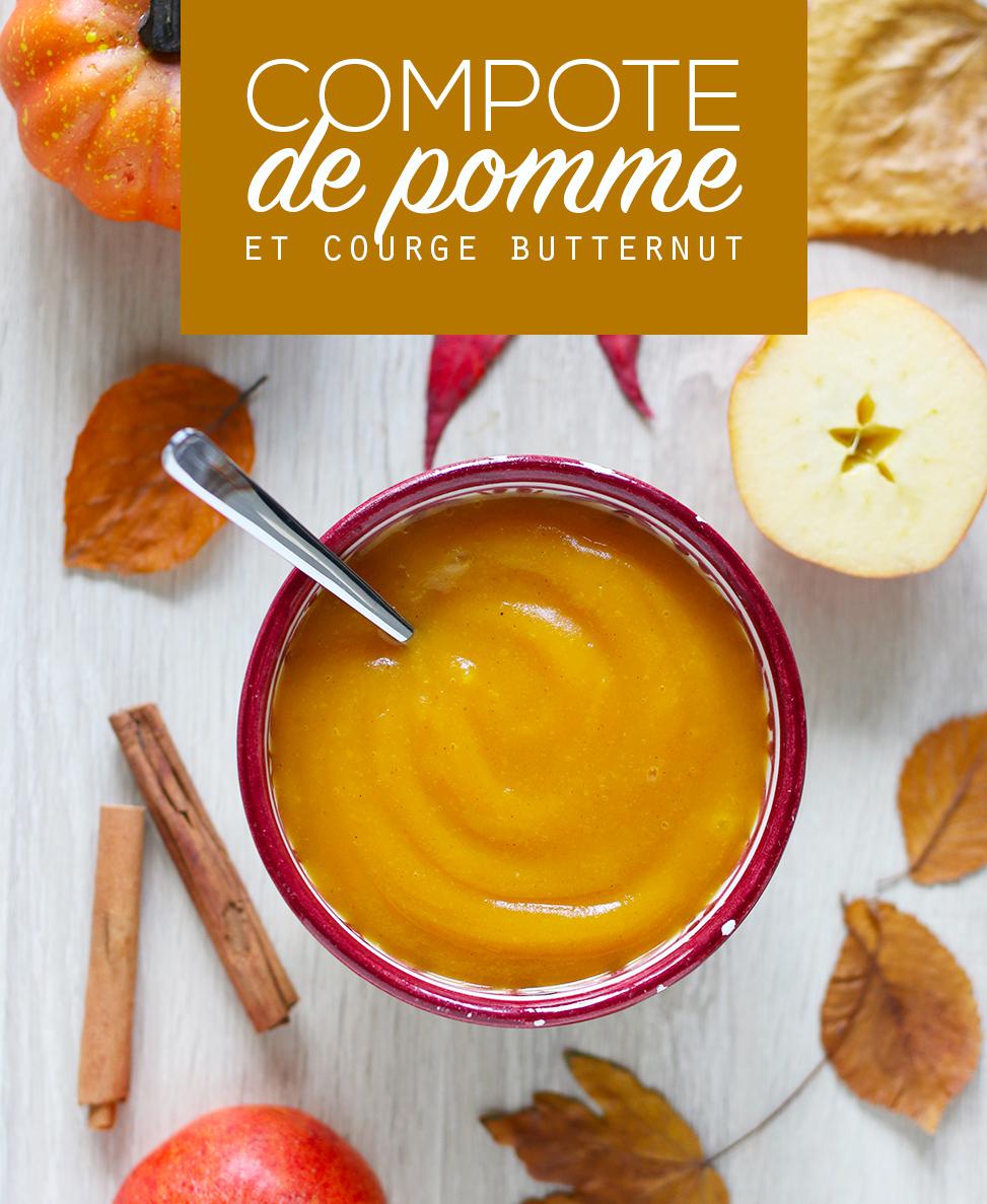 Compote pomme et courge butternut aux épices - Mango & Salt