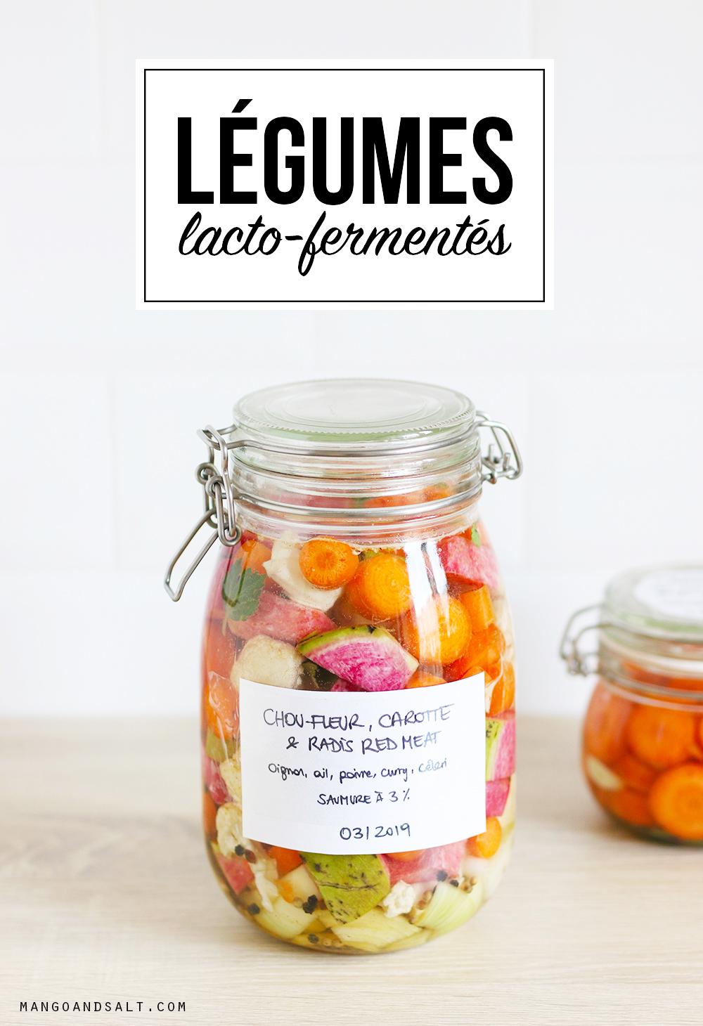 Légumes lacto-fermentés - Mango & Salt