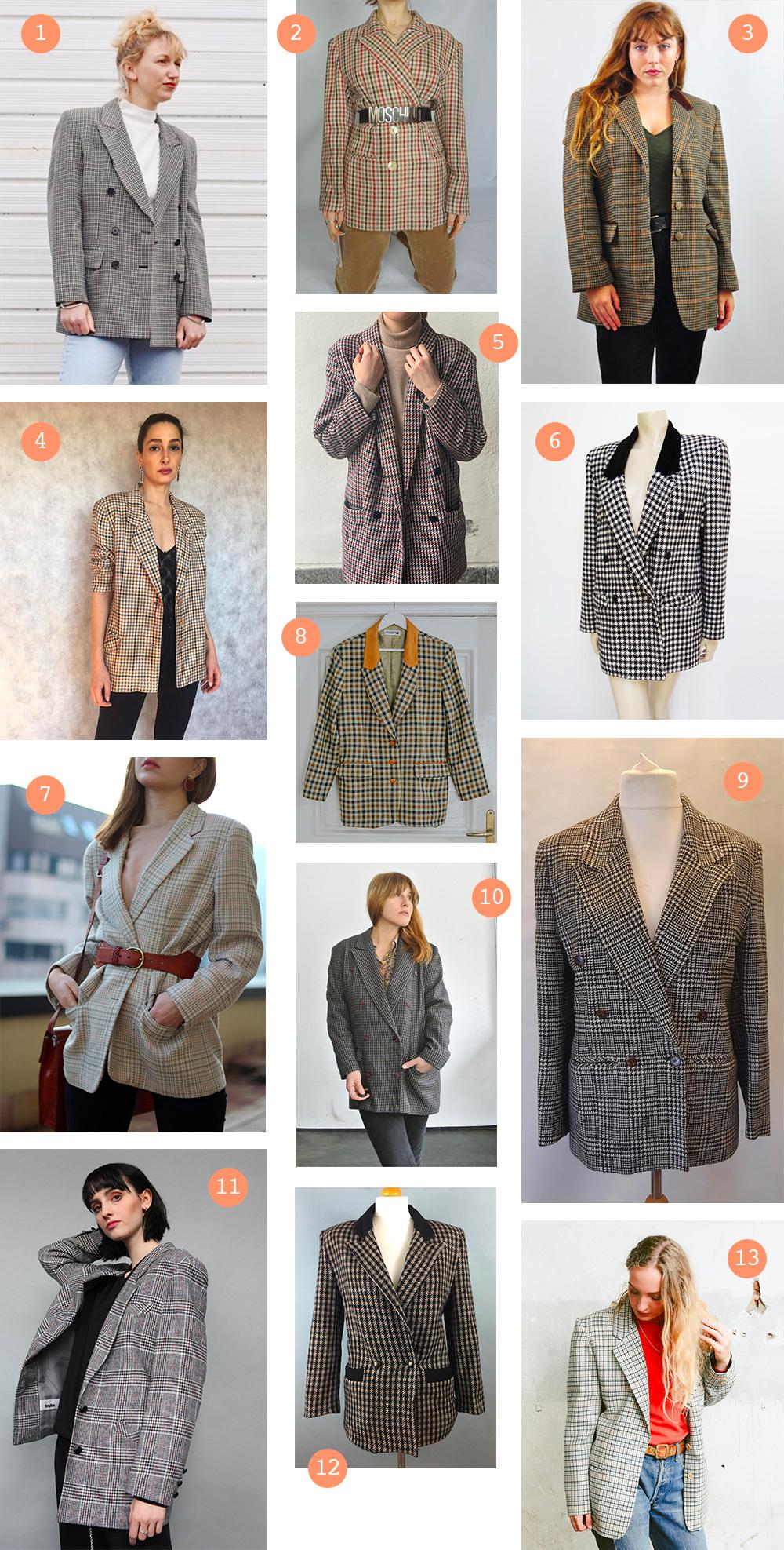 selection-blazers-vintage