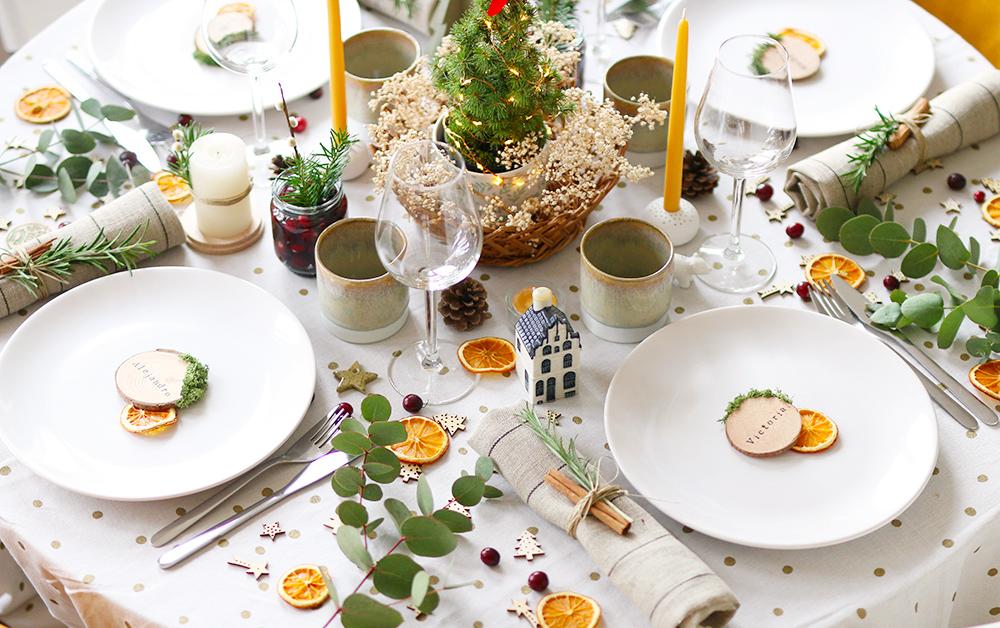 Ma déco de table simple et naturelle pour Noël , Mango and Salt