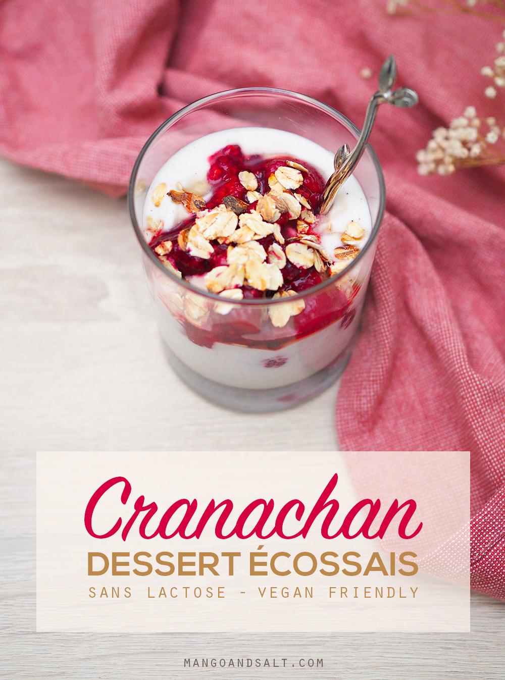 Cranachan sans lactose - Recette écossaise – Mango & Salt
