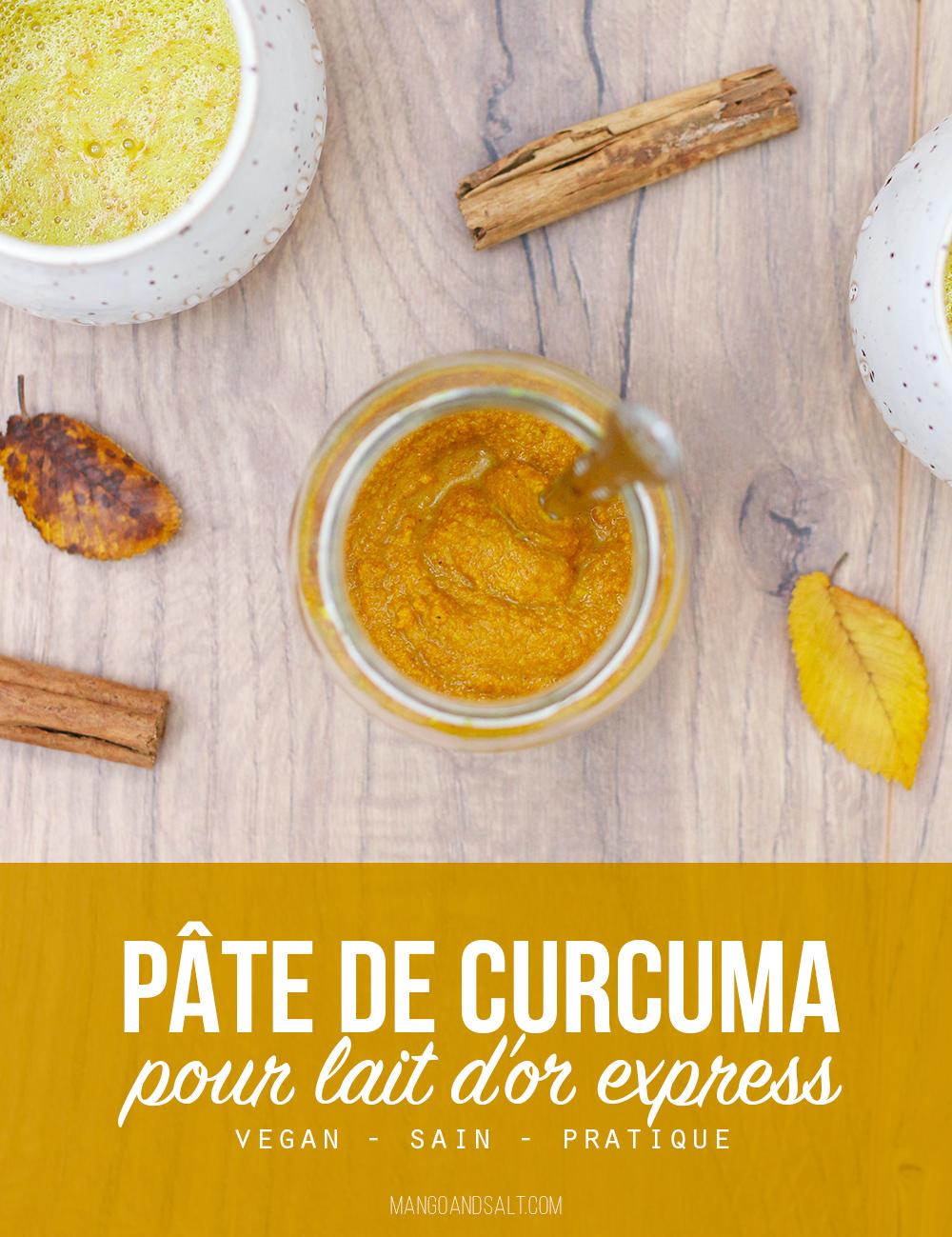 Pâte de curcuma pour lait d'or express – Mango & Salt